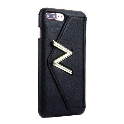 For iPhone 8 Plus / 7 Plus Solid Color Mobile Phone Case cover case for iphone 7 8 solid color dove of peace leather