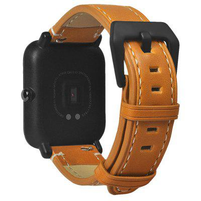 20mm lederen band voor Xiaomi Huami Amazfit Bip jeugd Smart Watch