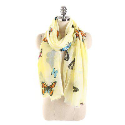 Coloured Big Butterfly Scarf