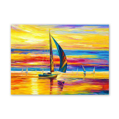 W357 Żaglówka Unframed Art Wall Canvas Prints for Home Decorations