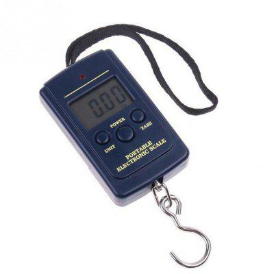 0.01kg - 40KG Hanging Scale Luggage Weight Balance Steelyard Black LCD