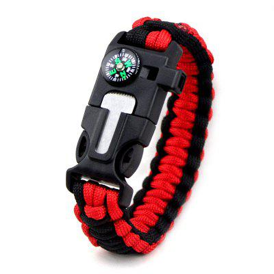 Camping Survival Emergency Parachute Compass Wristbands