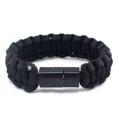 Outdoor Survival Bracelet Data Cable