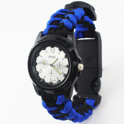 Multi-Function Wilderness Survival Woven Bracelet Watches