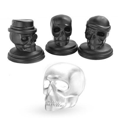 Novelty Skull Party 3D Silicone Ice Cube Mold 3d silicone ice cube mold tray maker for home