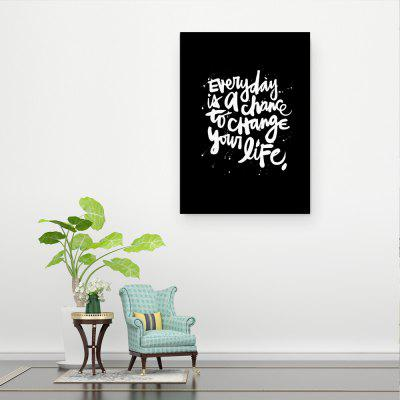 W362 Letters Unframed Art Wall Canvas Prints for Home Decoration home decoration removable quote wall art sticker