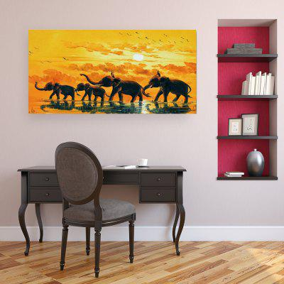 W365 Elephants Unframed Art Wall Canvas Prints for Home Decorations wall art sunset pyramids printed unframed canvas paintings