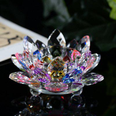 Exquisite Crystal Glass Lotus Candlestick free shipping european high grade furniture jewelry natural resin candlestick rose upholstery candlestick wedding accessories