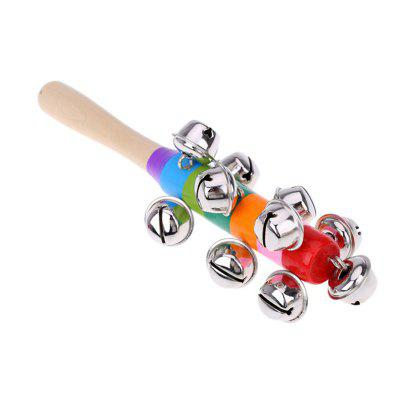 Bells Rainbow Hand Shake Sound Bell Rattles Baby Kid Children Educational Toy