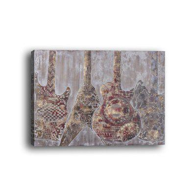 Framed Canvas Bedroom Wall Abstract Musical Instruments Violin Decoration Print - $18.09 Free Shipping|GearBest.com