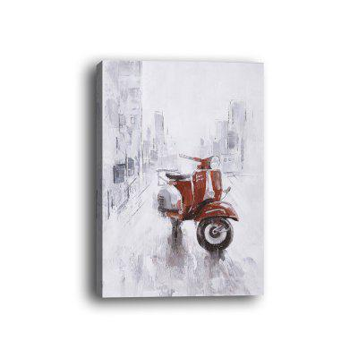 Framed Canvas Background Wall Still Life Decorative Painting Motorcycle Print