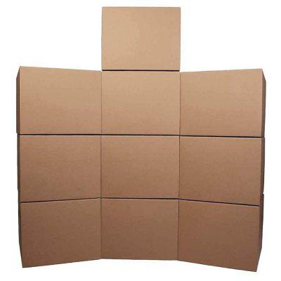 10 PCS Storage Box Foldable Moving Boxes for Packing Shipping