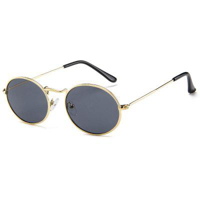 Fashionable Personality Small Round Frame Sunglasses vintage round frame english letters cute sunglasses fashion and personality cross my heart