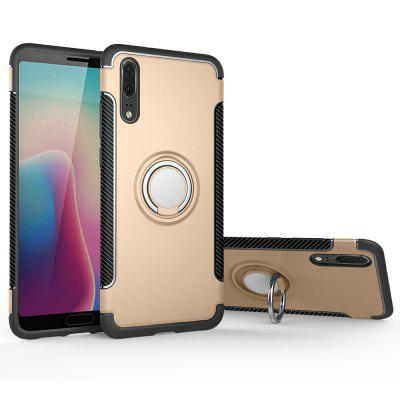 Cover Case for Huawei P20 Hybrid Car Magnetic Holder Shockproof TPU and PC elegance tpu pc hybrid back case with kickstand for iphone 7 plus 5 5 inch red