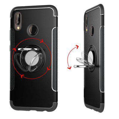 Cover Case for Huawei P20 Lite Hybrid Car Magnetic Holder Shockproof TPU and PC