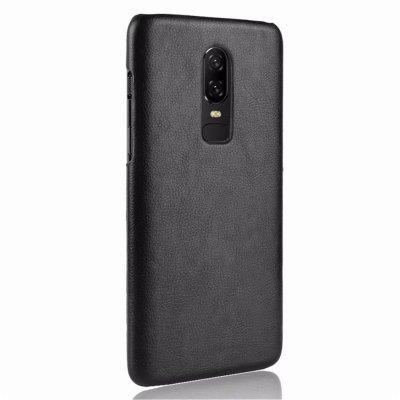 Cover Case for OnePlus 6 New Litchi Leather Skin Luxury PC Hard original oneplus 2 silicone case pc cover skin case battery cover