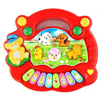 Animal Farm Piano Music Toy Developmental Baby Kid Gift baby touch farm