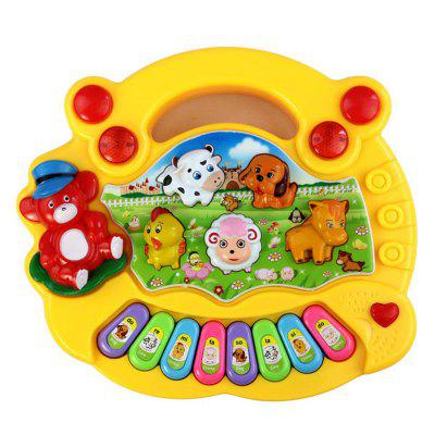 Animal Fazenda Piano Música Brinquedo Developmental Baby Kid Presente