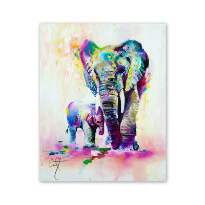 W361 Art Elephant Unframed Wall Canvas Prints for Home Decorations wall art sunset pyramids printed unframed canvas paintings