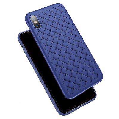 Grid Soft Silicone Case for iPhone X Deluxe Mesh Braided