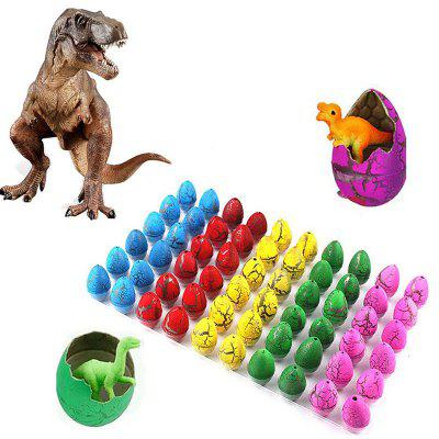 Novelty Mini Colorful Dinosaur Toy Eggs Hatching Dino Toys  for Kids 60PCS