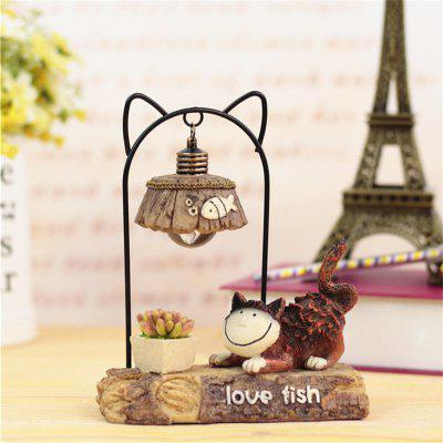 Meow Star People Resin Night Light Toy