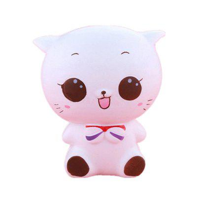 Jumbo Squishy White Cat Decompression Toys