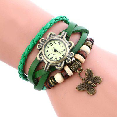 New Fashion Lady Butterfly Pendant Quartz Chain Watch