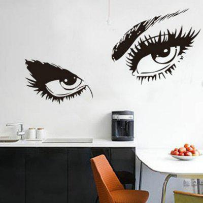 Big Eyes Decal Long Eyelashes Design Wall Decor Sticker big eyes