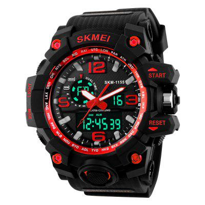 SKMEI Large Dial Shock Outdoor Sports Men Digital LED Military Army Watch