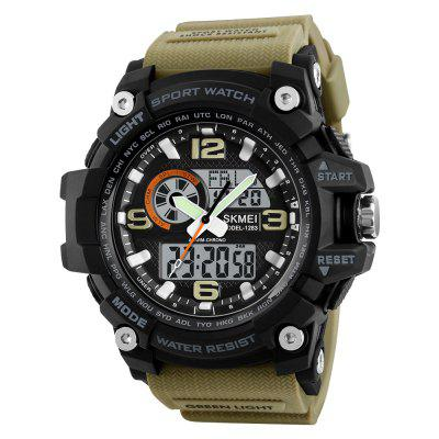 SKMEI Fashion Multi-function Chronograph Digital Quartz Dual Display Watches