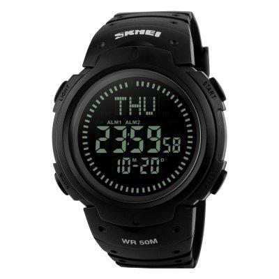 Купить SKMEI Compass Sports Men Countdown World Time Digital 50M Наручные часы для воды
