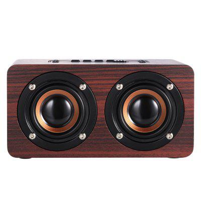 W5 Wooden Wireless Bluetooth Speaker HIFI Stereo Subwoofer Sound Amplifier