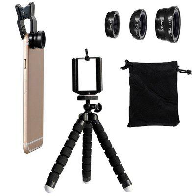 6 in 1 Phone Camera Lens Kit with Clip and Tripod