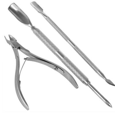 Spoon Pusher Remover Nail Cut Tool Pedicure Manicure Set