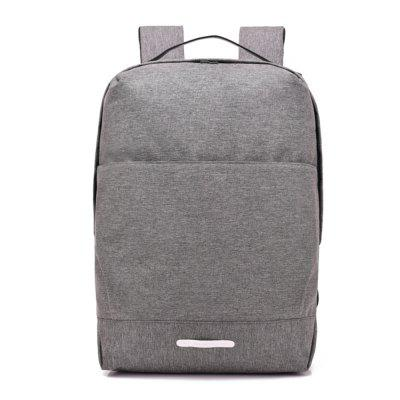 Canvas Fashion Simple Student USB Charging Port Computer Backpack chic canvas leather british europe student shopping retro school book college laptop everyday travel daily middle size backpack