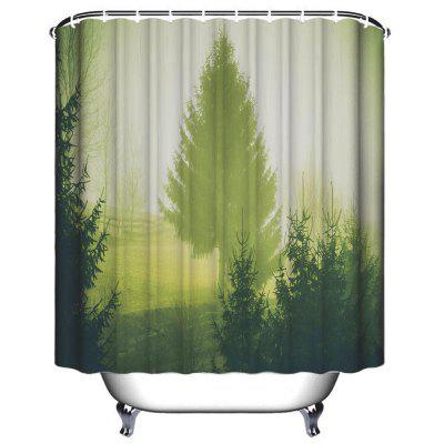 Pastoral Early Morning Bathroom Polyester Printed Waterproof Shower Curtain vintage big flowers waterproof polyester shower curtain