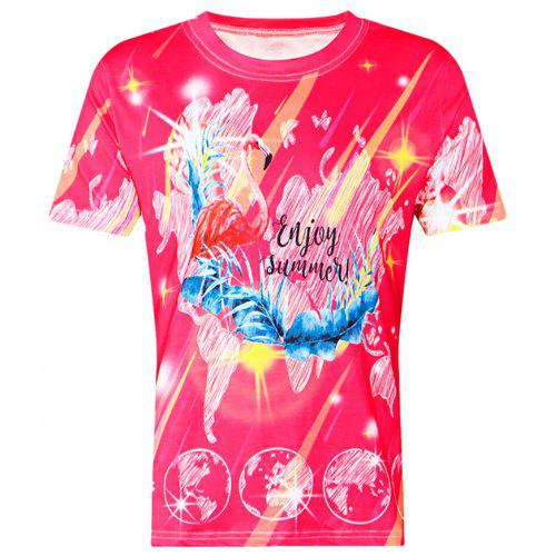 Sublimation Printing O-Neck Casual T-shirts For Women