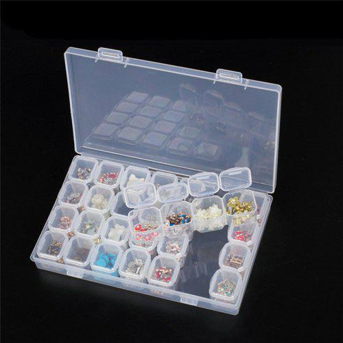 28 Grids Plastic Empty Storage Box Jewelry Nail Art Display Container Case UK