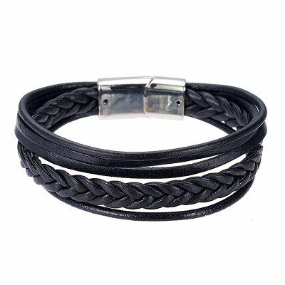 Fashionable and Popular Men and Women Weave Multi - layer Leather Bracelet