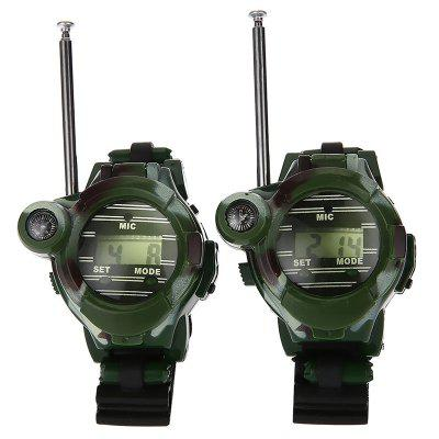 Long Range Two-way Radio Talky Camo Outdoor Army Kids Walkie Talkies Watch Toy