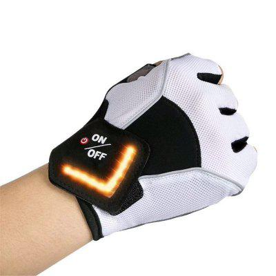 LED Turn Signal Motorcycle Gloves Outdoor Sports Finger Knight Riding special forces tactical half finger gloves sunscreen slip freedom soldiers outdoor riding sports seals tactical gloves