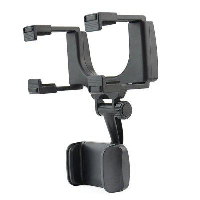 360 Degree Rearview Mirror Mount Stand Holder for Cell Phone