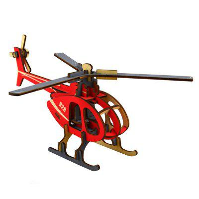 3D Wooden Puzzle Helicopter Buliding Model