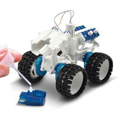 DIY Assembly Salt Water Powered Space Car Kit Kids Science Educational Toy