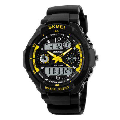 SKMEI Sports Shock Resistant Heren LED militaire digitale quartz horloge
