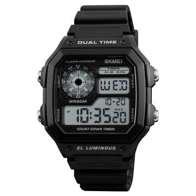 SKMEI Fashion Sports Men Countdown Stainless Steel Alarm Digital Watch
