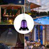 YWXLight Mosquito Killer Trap Lamp LED Light Fly Zapper Insect Bulb Outdoor - BLACK