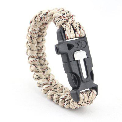 Outdoor Flint Survival Bracelet