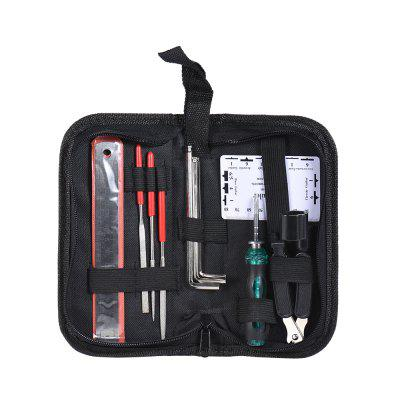 Guitar Care Tool Set Repair Maintenance Tech Kit free shipping 520pcs double bootlace ferrule crimper and wire end cord terminals 0 25 6mm2 terminal crimping tool set kit